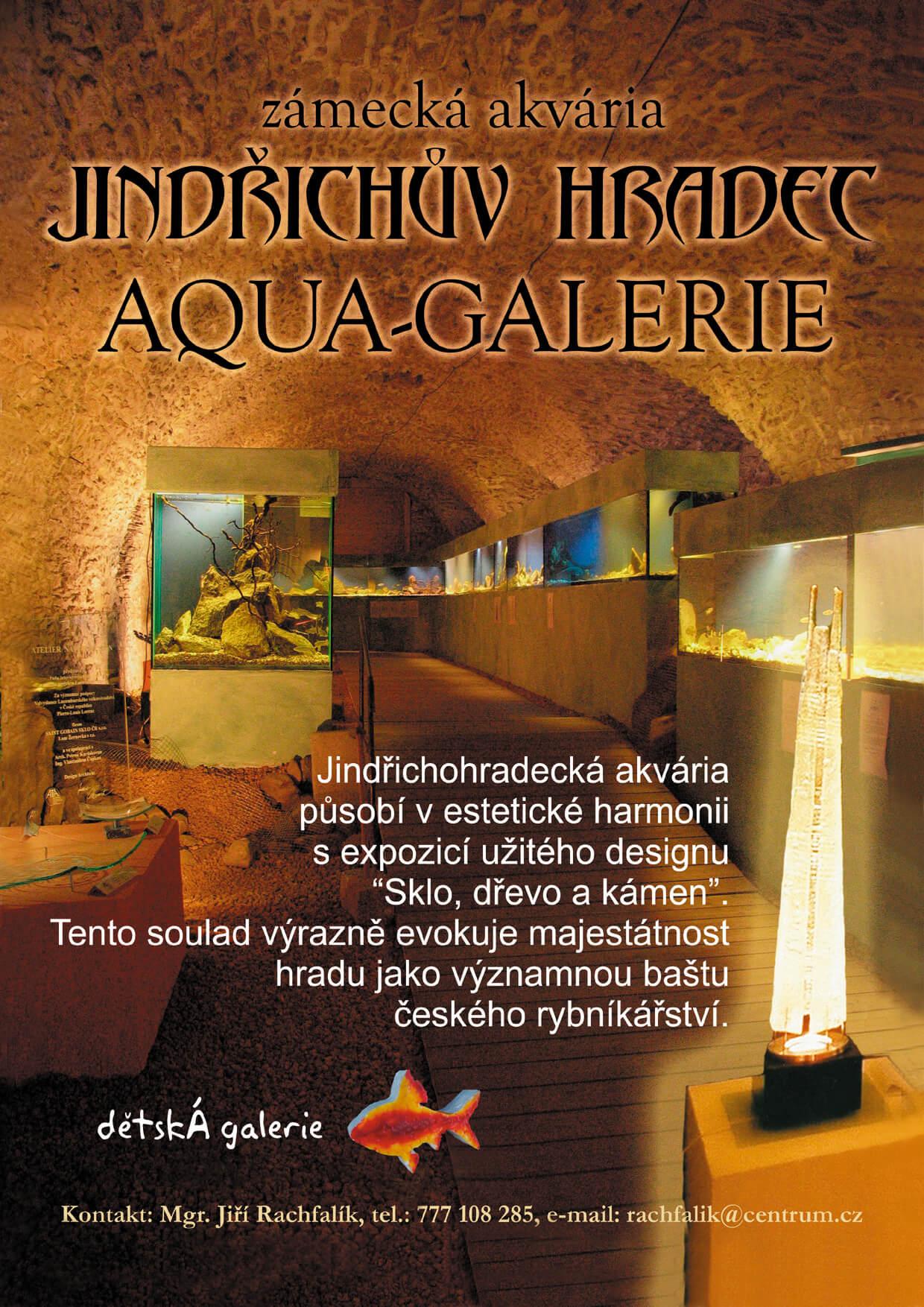 Akvárium Pod hladinou Vltavy leták